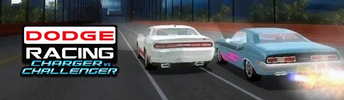 Banner Dodge Racing Charger vs Challenger
