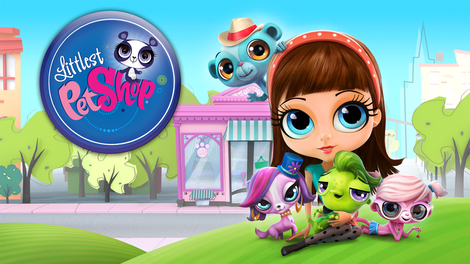 Banner Littlest Pet Shop Strand Vrienden