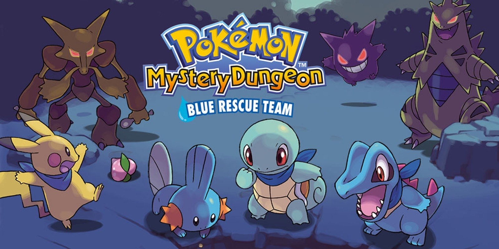 Banner Pokemon Mystery Dungeon Blue Rescue Team