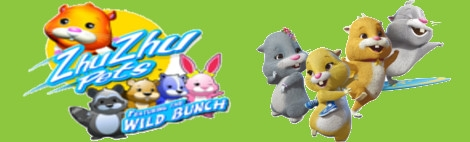 Banner ZhuZhu Pets Featuring The Wild Bunch