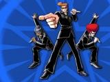 Speel als agenten J, Moris, en Derek en los problemen van mensen op door te dansen.