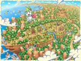 De overview van het landschap en Shaymin in special form.