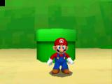 Onze held Mario komt eindelijk de pijp uit.