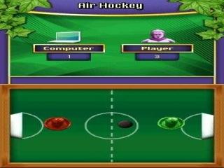 Gezellig een potje Air Hocky spelen!