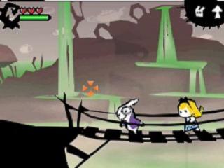Het spel is een 2D-platformer met veel actie!