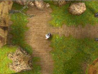 Tijdens het spelen zie je Ashley van boven, bij de puzzels verandert het scherm naar een ander beeld.