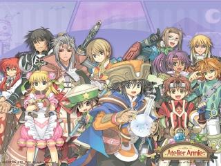 Atelier Annie: Alchemists of Sera Island: Afbeelding met speelbare characters