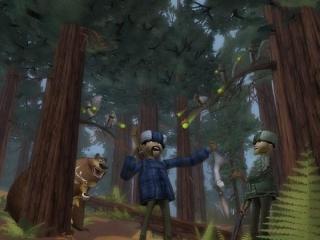 Versla die gestoorde vijanden en maak het bos weer veillig!
