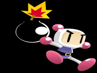 Je speelt als de explosieve knaap,<br /> Bomberman!