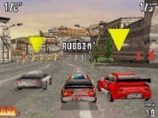 Ram tijdens het racen je tegenstanders van de baan, daar staat de serie immers voor bekend.