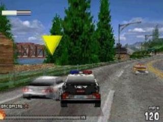 Rijd in een politiewagen en vernietig de wagen van de tegenstander in Pursuit.