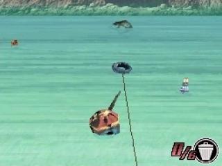 Het spel bevat twaalf minigames zoals dit vissen met Takel.
