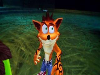 Crash Bandicoot laat zich heerlijk besturen op de DS. Het touchscreen wordt echt gebruikt!