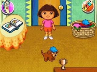 Dit spel draait om Dora, en niet te vergeten haar schattige puppy.