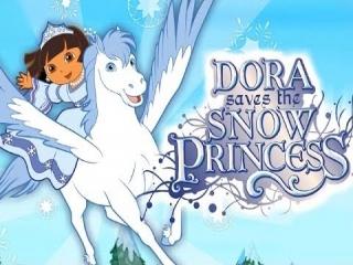 Dora Redt de Sneeuwprinses: Afbeelding met speelbare characters