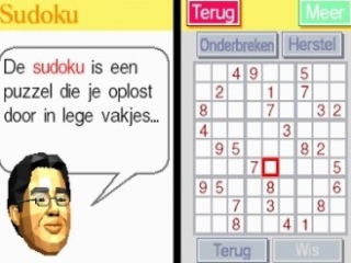 Tussen het trainen door is het mogelijk om een sudoku op te lossen.