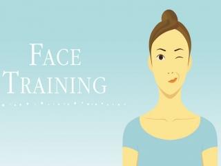 Deze mevrouw zal jou begeleiden met gezichtsoefeningen.