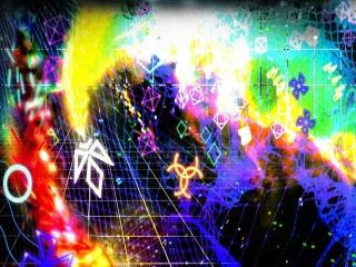 In Geometry Wars bestuur je een Neon-kleurig ruimteschip.