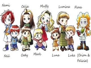 Harvest Moon DS: Afbeelding met speelbare characters