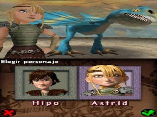 De speelbare karakters in How To Train Your Dragon DS!<br />