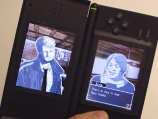 Het unieke aan dit spel is dat je je DS niet horizontaal, maar verticaal gebruikt.