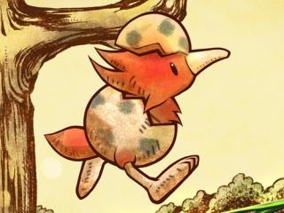 Nee hoor, Ivy de Kiwi is geen stuk fruit, maar een dit schattig pasgeboren vogeltje.