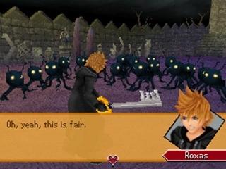 De grote vijanden in dit spel zijn de zogenaamde Heartless.