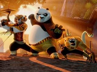 Speel als panda Po en leer verschillende Kung Fu-technieken!