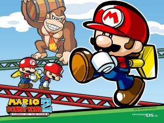 Stuur deze mini-Mario's achter Donkey Kong aan om Pauline te bevrijden.