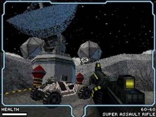 Zoals je al kon raden speelt dit spel zich voornamelijk af op de maan.