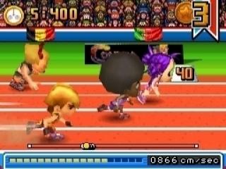 Speel wat te gekke track & field sporten, zoals de 100-meter sprint!