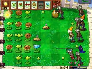 Verdedig je tuin tegen de zombies die uit zijn op je brein!