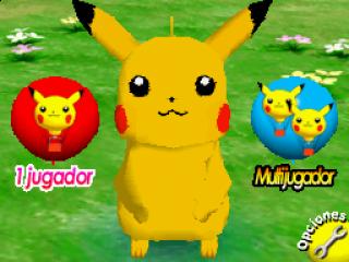 Buiten het echte spel kan je ook communiceren met Pikachu