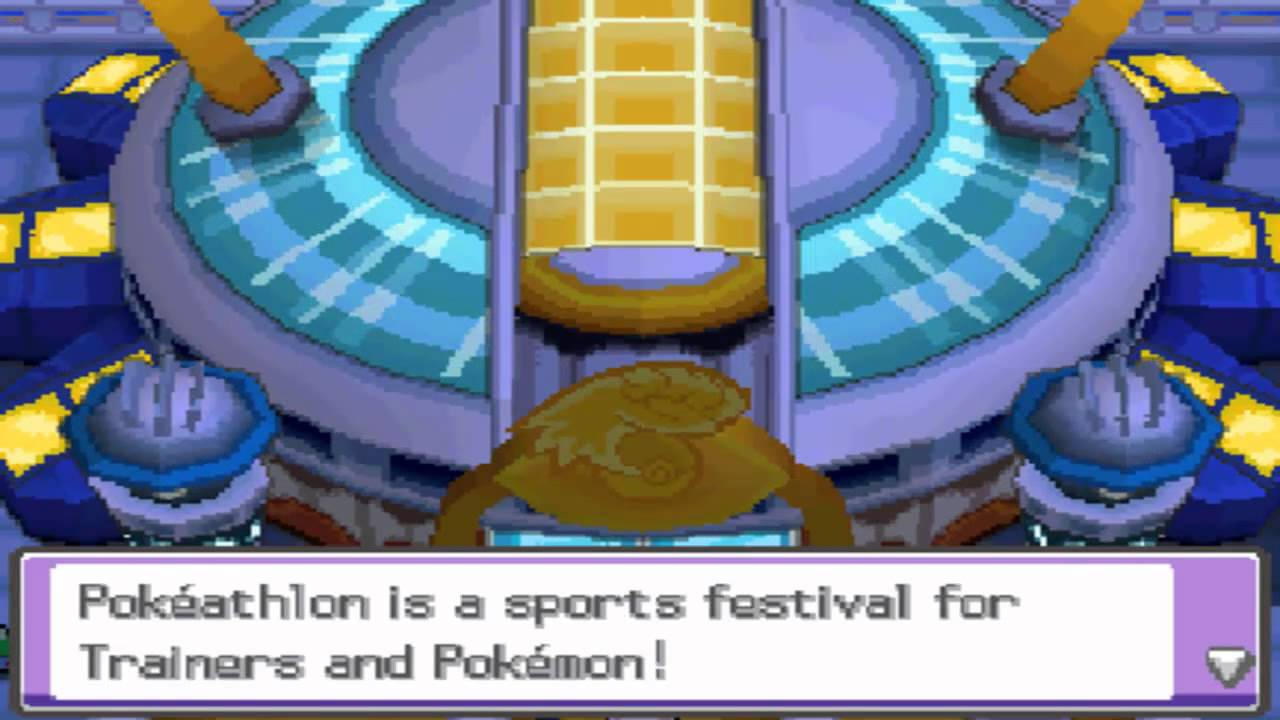 In de Pokéathlon speel je tien verschillende minigames met je Pokémon.