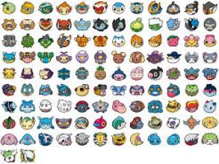 Alle Pokémon die in <i>Pokémon Link!</i> zitten zie je op deze afbeelding!