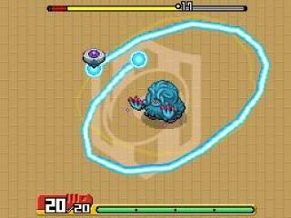 In dit spel vang je pokémon door op het touchscreen cirkels om ze heen te draaien.