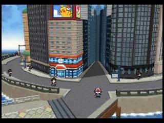 De wereld is op sommige plekken in 3D wat een verandering is voor de pokemon games.