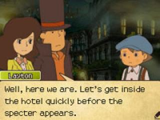 Je kunt spelen als Layton (Duh) en zijn 2 hulpdetectives!