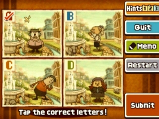 Professor Layton and the Last Specter: Screenshot