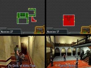 Verken een landhuis met behulp van de kaart op het bovenste scherm.