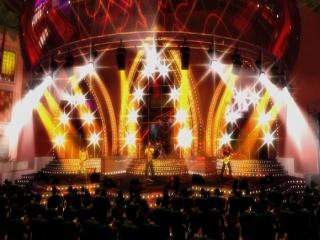 Wat een groot podium!<br /> Ik denk dat de instrumenten hier wel passen.