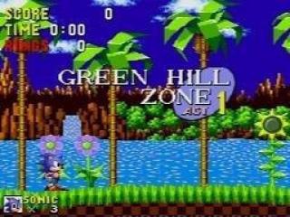 Het meest klassieke Sonic level: Green Hill Zone.