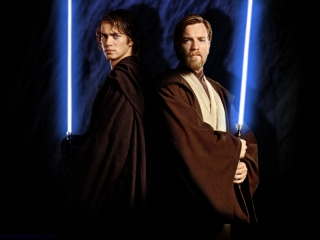 Speel als de Jedi's Anakin en Obi-Wan.