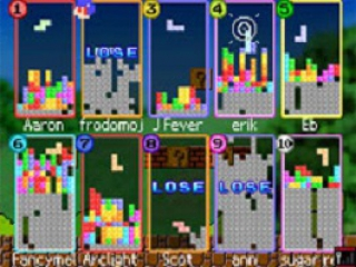 Speel met maar liefst 10 spelers met maar één Tetris DS card
