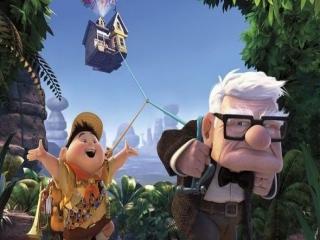 Speel als de bejaarde Carl en scout Russel.