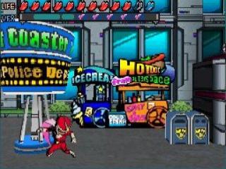2d platform game met 3d achtergronden en stijl graphics.